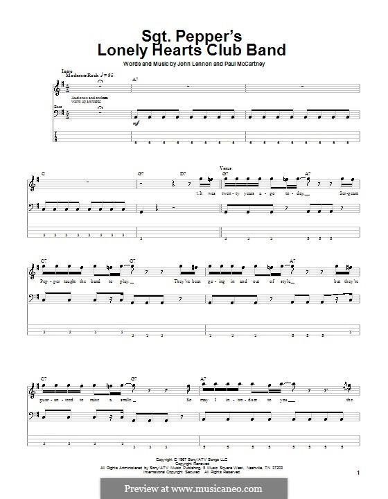 Sgt. Pepper's Lonely Hearts Club Band (The Beatles): para baixo com guia by John Lennon, Paul McCartney