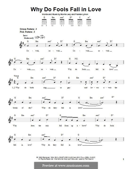 Why Do Fools Fall in Love: Para guitarra (versão facil) by Frankie Lymon, Morris Levy
