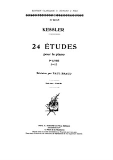 Twenty-Four Etudes for Piano, Op.20: estudos No 1-12 by Joseph Christoph Kessler