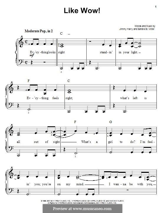 Like Wow! (from Shrek): Facil para o piano by Sandra St. Victor