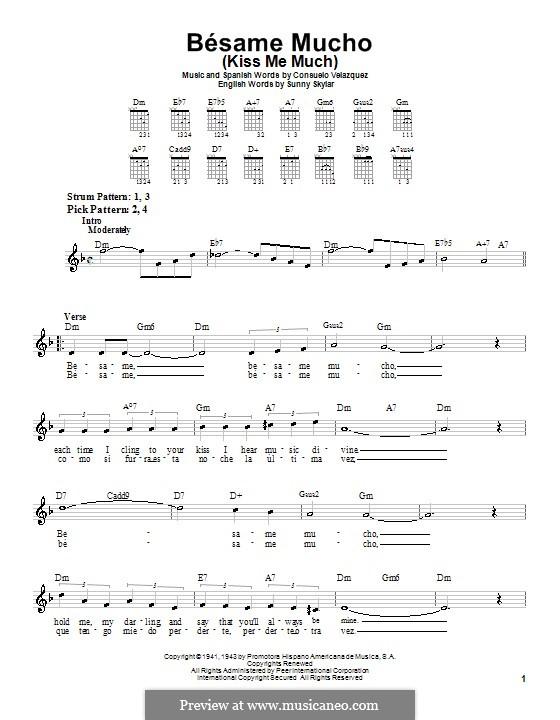 Besame Mucho (Kiss Me Much): Para guitarra (versão facil) by Consuelo Velazquez