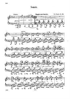 Sonata for Piano No.2 in B Flat Minor, Op.35: For a single performer by Frédéric Chopin