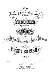 Fantasia on Themes from 'Norma' by Bellini, Op.58: partituras completas, partes by Frédéric Brisson