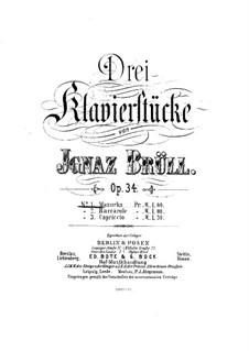 Three Piano Pieces, Op.34: peças de três pianos by Ignaz Brüll