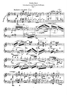 Introduction and Rondo Brilliant, Op.7: Para Piano by Dudley Buck