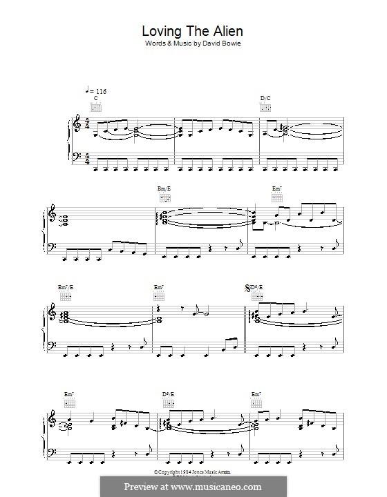 Loving the Alien: Para vocais e piano (ou Guitarra) by David Bowie
