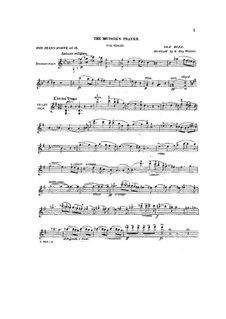 The Mother's Prayer for Violin and Piano (ad libitum): The Mother's Prayer for Violin and Piano (ad libitum) by Ole Bull