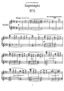 Two Impromptus, Op.13: set completo by Felix Blumenfeld