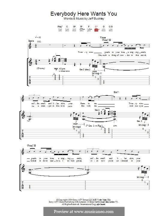 Everybody Here Wants You: Para guitarra com guia by Jeff Buckley