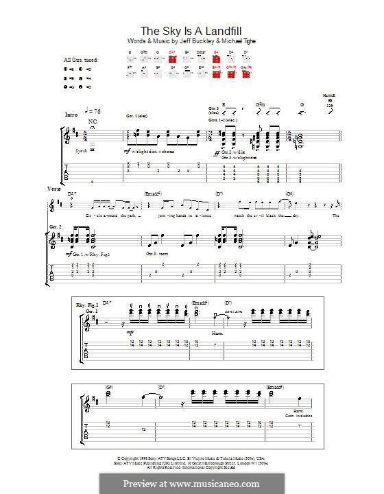 The Sky Is a Landfill: Para guitarra com guia by Michael Tighe