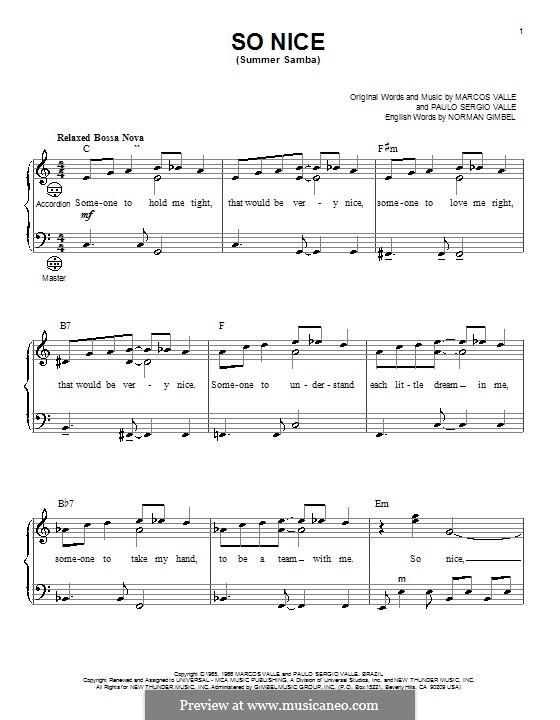 So Nice (Summer Samba): para acordeão by Marcos Valle, Paulo Sergio Valle