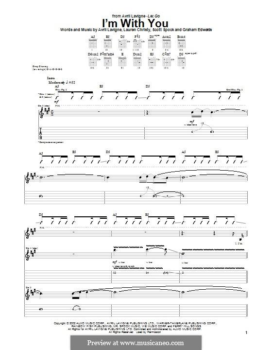 I'm with You: Para guitarra com guia by Avril Lavigne, Graham Edwards, Lauren Christy, Scott Spock