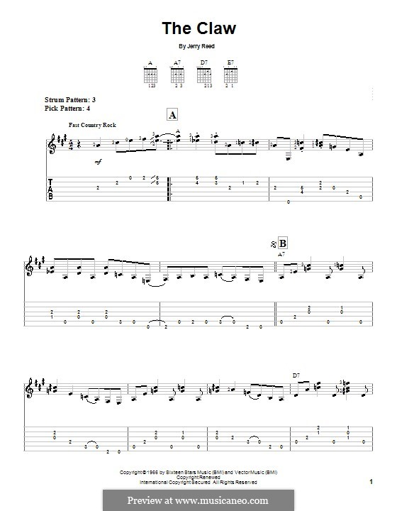 The Claw: Para guitarra (versão facil) by Jerry Reed