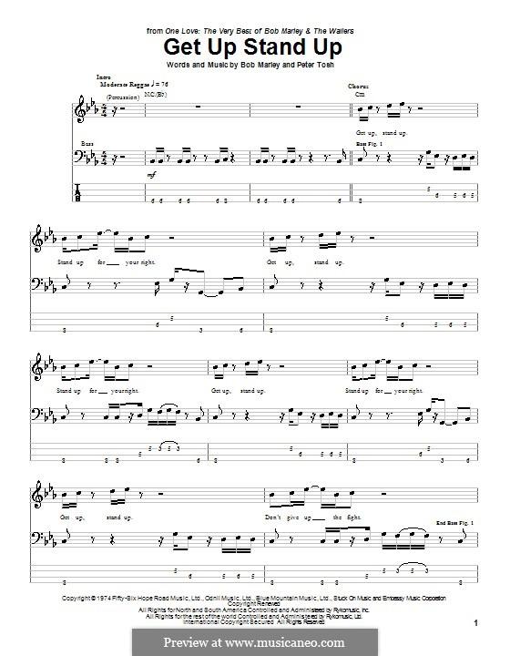 Get Up Stand Up: para baixo com guia by Bob Marley, Peter Tosh