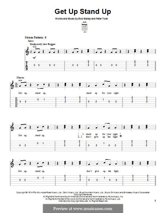 Get Up Stand Up: Para guitarra (versão facil) by Bob Marley, Peter Tosh