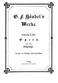 Amadigi di Gaula, HWV 11: Partitura completa by Georg Friedrich Händel