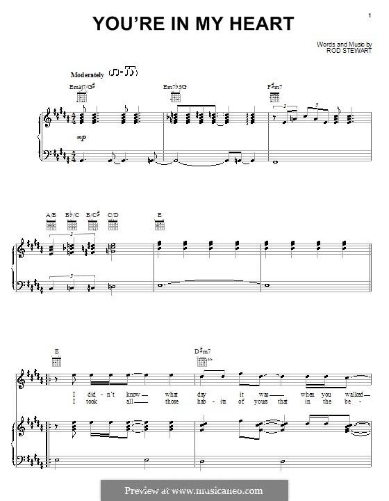 You're in My Heart: Para vocais e piano (ou Guitarra) by Rod Stewart