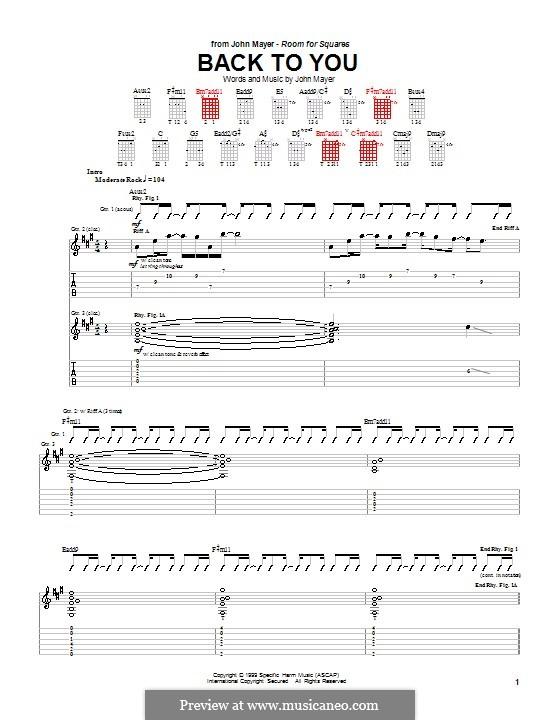 Back to You: Para guitarra com guia by John Mayer