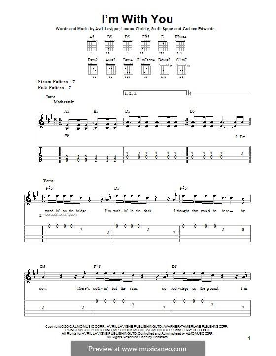I'm with You: Para guitarra (versão facil) by Avril Lavigne, Graham Edwards, Lauren Christy, Scott Spock