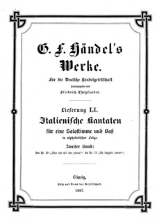 Italian Cantatas: livro II by Georg Friedrich Händel
