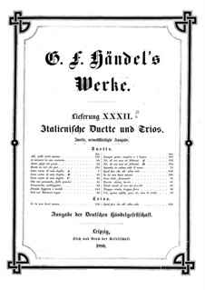 Italian Duets and Trios: livro II by Georg Friedrich Händel