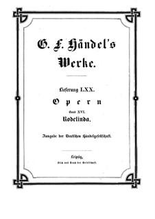 Rodelinda, HWV 19: partitura completa by Georg Friedrich Händel