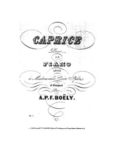 Caprice in A Flat Major, Op.7: Para Piano by Alexandre Pierre François Boëly