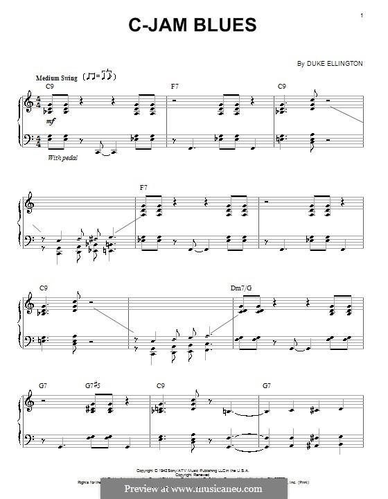 C-Jam Blues: Para Piano by Duke Ellington