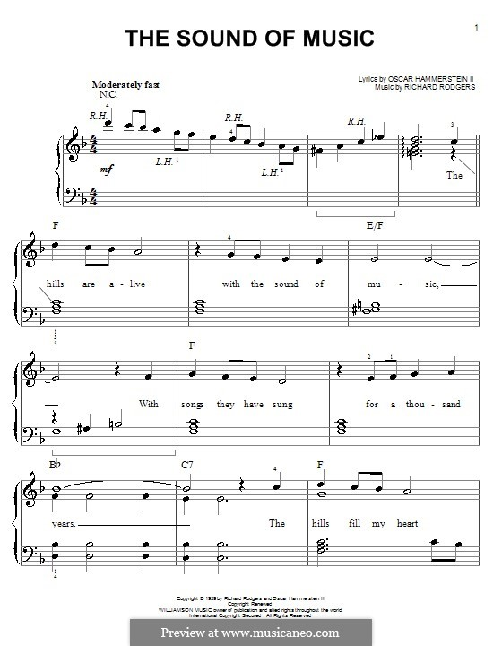 The Sound of Music: Facil para o piano by Richard Rodgers