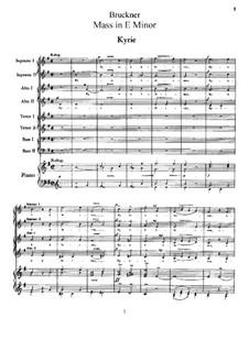 Mass No.2 in E Minor, WAB 27: Mass No.2 in E Minor by Anton Bruckner