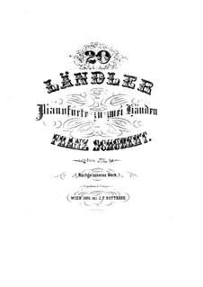 Twenty Ländler: Twenty Ländler by Franz Schubert