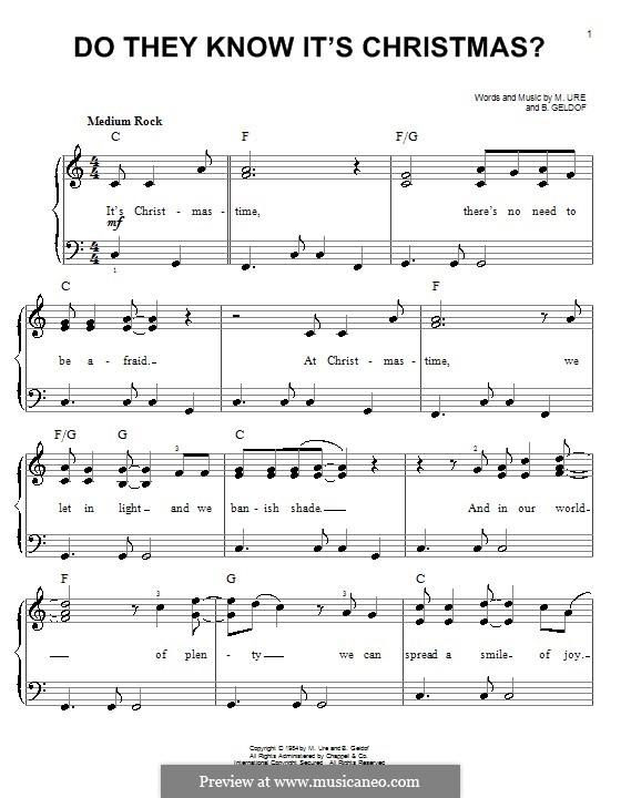 Do They Know It's Christmas? (Feed the World): Facil para o piano by Bob Geldof, Midge Ure