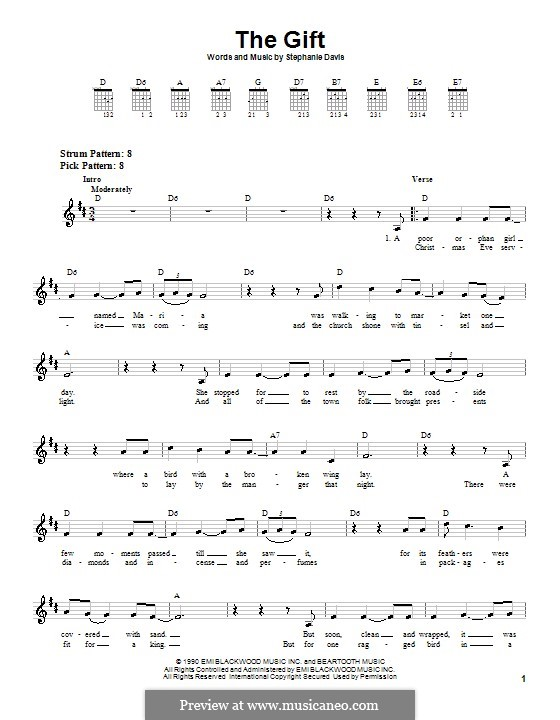 The Gift: Para guitarra (versão facil) by Stephanie Davis