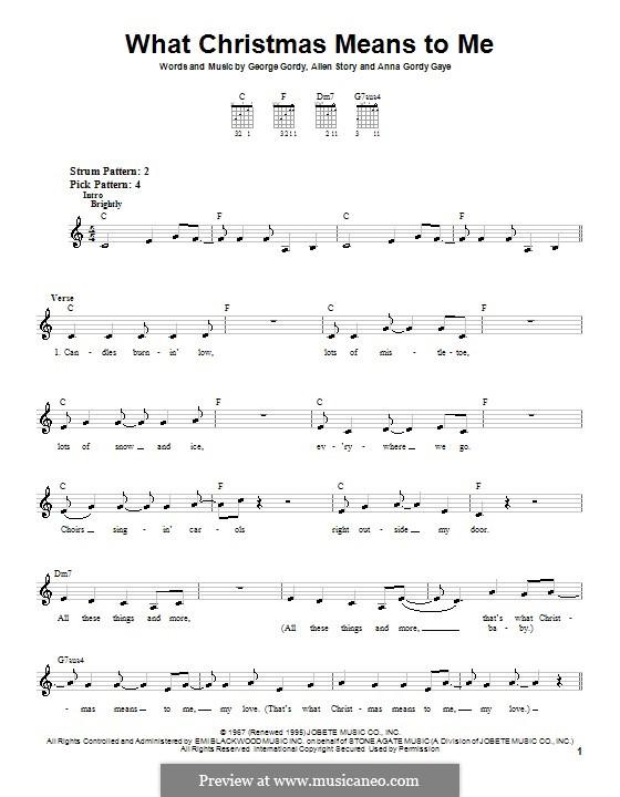 What Christmas Means To Me (Stevie Wonder): Para guitarra (versão facil) by Allen Story, Anna Gordy Gaye, George Gordy