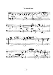 Two Sarabandes, WoO 5: Para Piano by Johannes Brahms