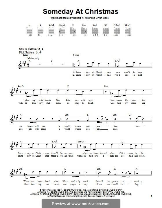 Someday at Christmas: Para guitarra (versão facil) by Bryan Wells