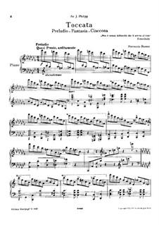 Toccata for Piano, BV 287: Toccata para piano by Ferruccio Busoni