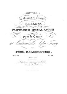 Fantasia Brilliant on Theme from 'Guido et Ginevra' by Halévy, Op.142: Fantasia Brilliant on Theme from 'Guido et Ginevra' by Halévy by Friedrich Kalkbrenner