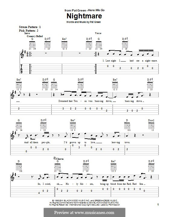 Nightmare: Para guitarra (versão facil) by Pat Green