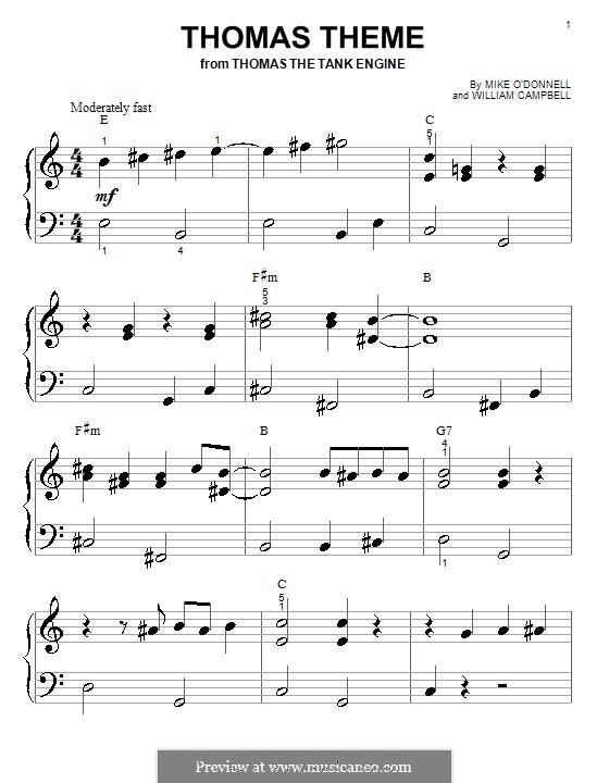 Thomas the Tank Engine: para piano (versão facil) by Gerard Gogarty, Peter Johnson, William Campbell