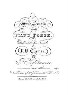 Piano Sonata in F Major, Op.28: For a single performer by Friedrich Kalkbrenner