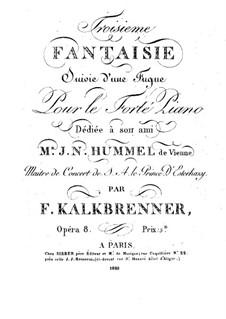 Fantasia No.3 in E Flat Major, Op.8: Para Piano by Friedrich Kalkbrenner
