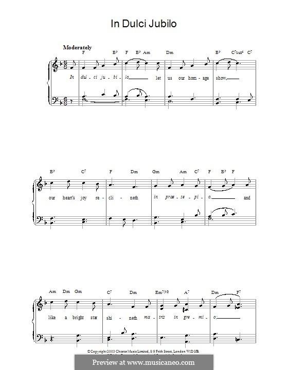 In dulci jubilo: Facil para o piano by folklore