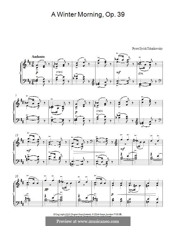 No.2 Winter Morning: Para Piano by Pyotr Tchaikovsky