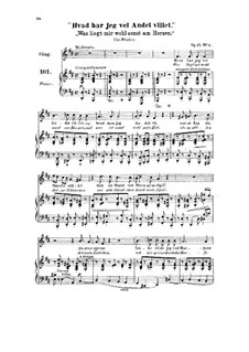 Six Songs, Op.17: seis musicas by Halfdan Kjerulf