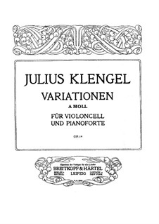 Variations for Cello and Piano, Op.19: Variations for Cello and Piano by Julius Klengel