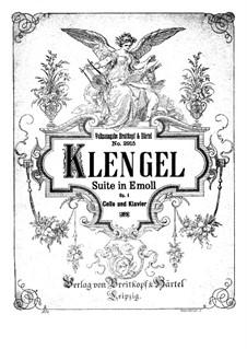 Suite for Cello and Piano, Op.1: Score, Parte de solo by Julius Klengel