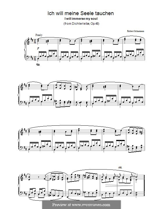 No.5 I Want to Bathe My Soul in the Chalice of the Lily: Para Piano by Robert Schumann
