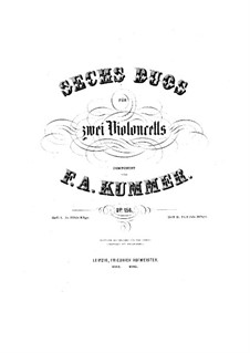 Six Duets for Two Cellos, Op.156: Six Duets for Two Cellos by Friedrich August Kummer