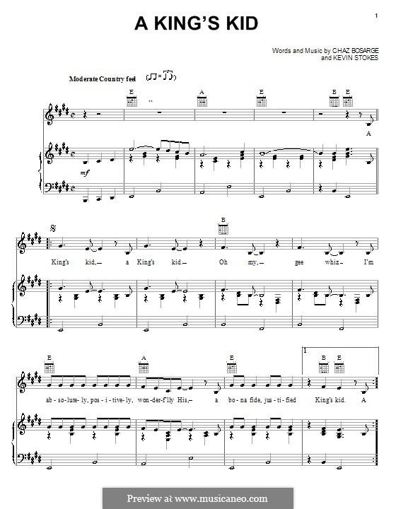 A King's Kid: Para vocais e piano (ou Guitarra) by Kevin Stokes